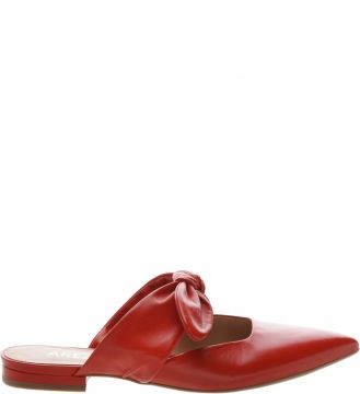 Mule Aberta Lace Up Couro Royal Red - Arezzo