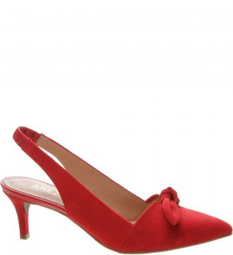 Scarpin Aberto Lace Up Nobuck Royal Red - Arezzo