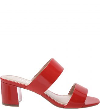 Mule Verniz Tiras Royal Red - Arezzo