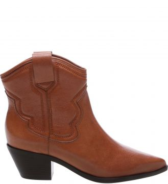 Ankle Boot Country Couro Honey Nut - Arezzo