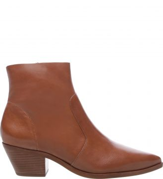 Ankle Boot Couro West Brown - Arezzo