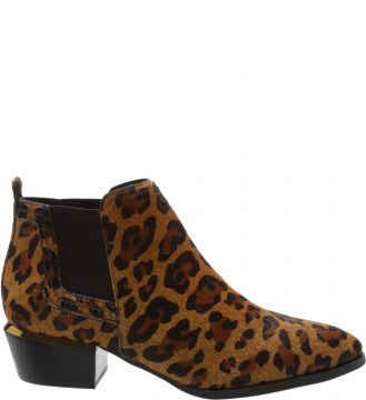 Ankle Boot Western Elástico Pelo West Leopard - Arezzo