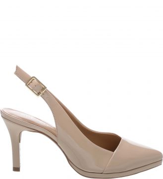 Scarpin Verniz Slingback Light Cream - Arezzo