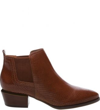 Ankle Boot Western Elástico Dark Umber - Arezzo