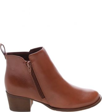 Ankle Boot Couro Toast Brown - Arezzo