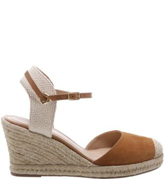 Espadrille Basic Suede Natural Wood - Arezzo