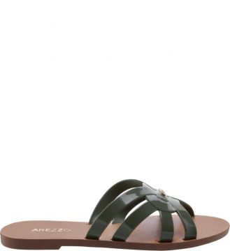 Chinelo Rasteiro Multi Tiras City Army - Arezzo