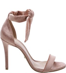 Sandália Clássica Veludo Lace-up Rose   AREZZO