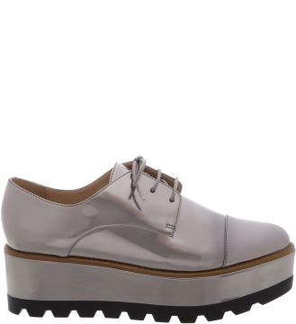 Oxford Plataforma Old Silver Color Line Black   AREZZO