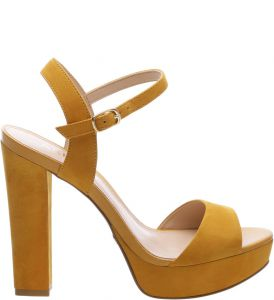 Sandália Nobuck High Savannah Old Yellow   AREZZO
