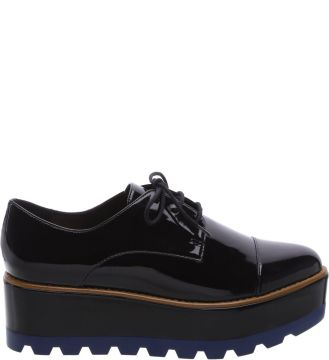 Oxford Plataforma Preto Color Line Blue   AREZZO