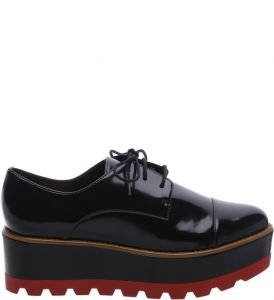 Oxford Plataforma Preto Color Line Red   AREZZO