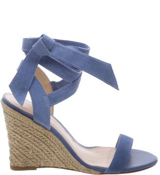Sandália Suede Lace Up Savannah Blue Bird   AREZZO