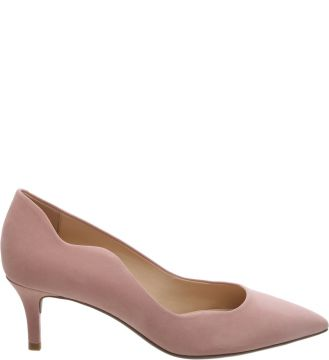 Scarpin Nobuck Wave Urban Rose Blush   AREZZO