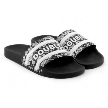 Chinelo Qix Double-g Slide Pasley Preto/branco - 409007