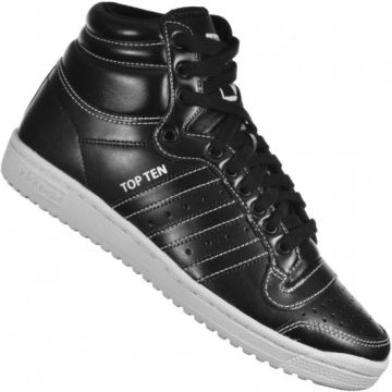 cc89ecf0396 Tênis Adidas Originals Top Ten Hi Preto branco - F37608