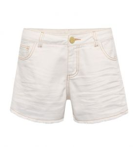 Shorts Jeans Off White Canellado