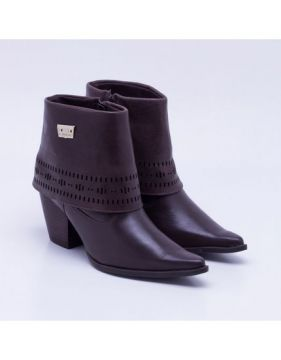 Ankle Boot Bottero Couro Marrom