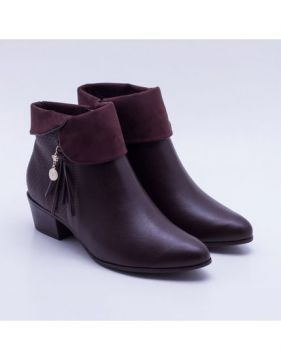 Ankle Boot Ramarim Tassel Brown