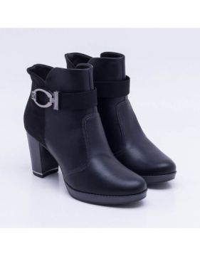 Ankle Boot Piccadilly Salto Grosso Preta
