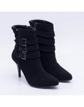 Ankle Boot New Casual Nobuck Preta