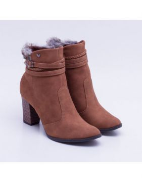 Ankle Boot Mississipi Salto Grosso Caramelo