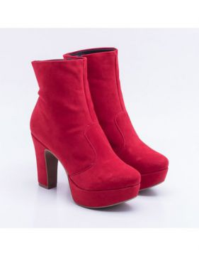 Ankle Boot New Casual Vermelha