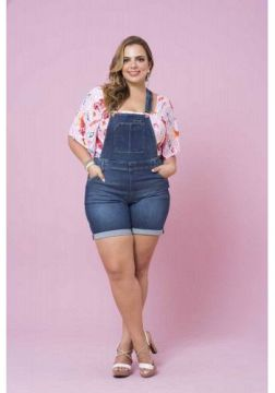 Program Plus 186642 - JARDINEIRA PLUS SIZE JEANS
