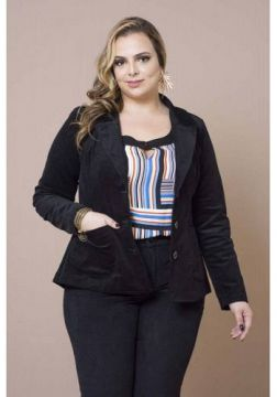 Program Plus 197781 - BLAZER PLUS SIZE VELUDO