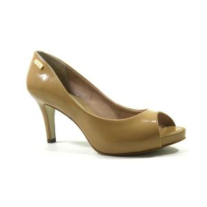 Peep Toe Dumond Verniz Tan