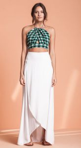 TOP CROPPED ESTAMPA GRAVATARIA FLORAL
