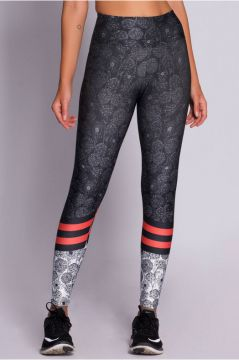 Legging Athletic Plus Flowers - ET274