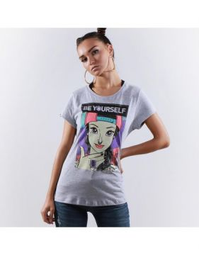 a19bf21274 Camiseta Vintage Missy Be Yourself - Mescla - Qix (Roupas - Blusa ...