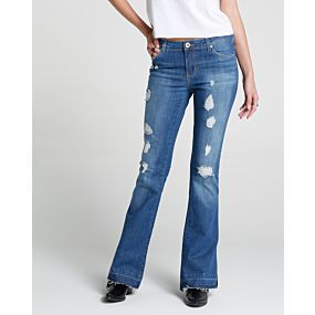Calça Jeans Flare Destroyed - Pool Trendy