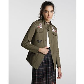 Jaqueta Sarja Militar Birds - Pool Trendy
