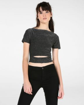 Blusa Cropped Lurex - Pool Street