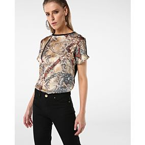 Blusa Animal Print Corrente - Ak Glamour