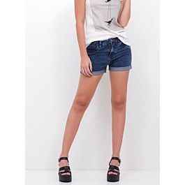 Short Hot Pants Barra Dobrada em Jeans - Youcom