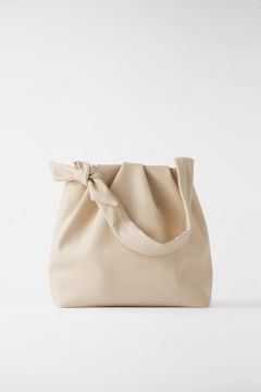 Soft Tote Bag With Knotted Strap - Zara