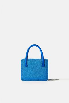 Mini Bolsa A Tiracolo Com Glitter Blue Collection - Zara
