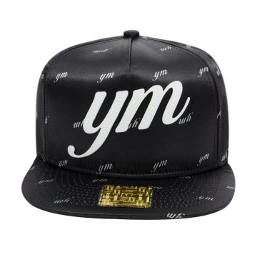 Boné Aba Reta Young Money Snapback Satin Black - Preto