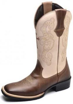 Bota Country Top Franca Shoes Country - Bege