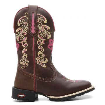 Bota Ellest Texana Country Bruto Memo Bordado Exclusivo Femi