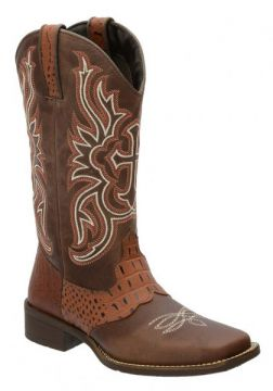 Bota Country Escrete Texana Francalce - Marrom