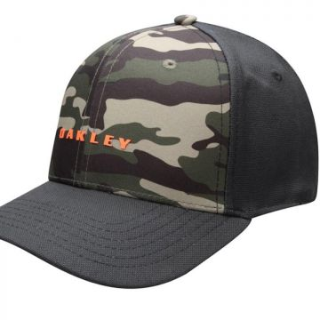 Boné Oakley 6 Panel Camou Solid Hat Blackout - Preto