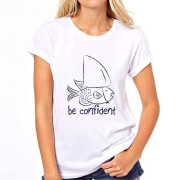 Camiseta Be Confident Coolest Feminina - Branco