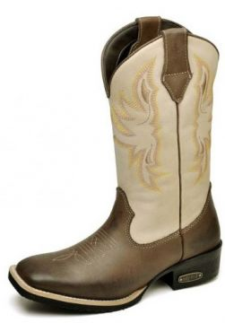 Bota Country Top Franca Shoes Country - Marrom