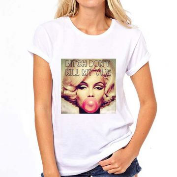 Camiseta Coolest Bitch Dont Kill My Vibe Feminina - Branco