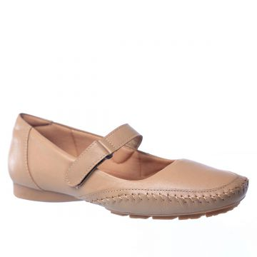 Sapatilha Couro Doctor Shoes Feminina - Bege