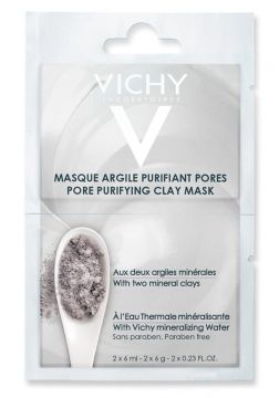 Máscara Facial Vichy - Mineral Mask Duo Argila 2x 6ml - Inco